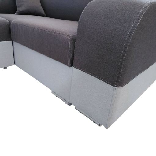 Armrest and lower part of the U-shaped sofa - Milan