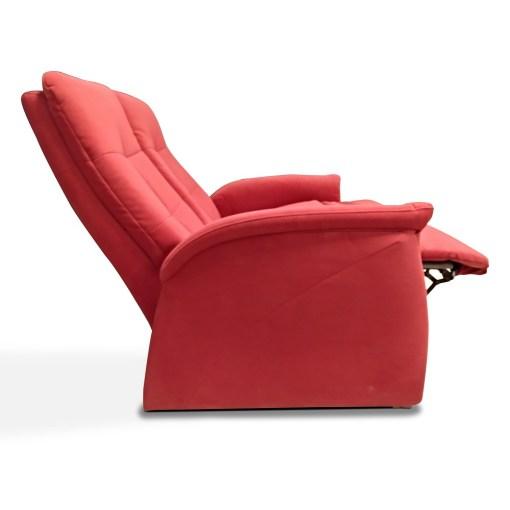 Sofá dos plazas asientos y respaldos reclinables - Jet. Vista lateral