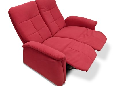 Two Seater Recilner Sofa - Jet. Leg Rests Up