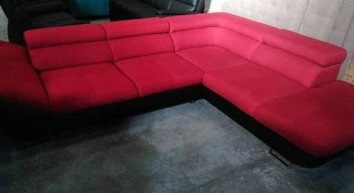 Red Corner Sofa Bed - Florence