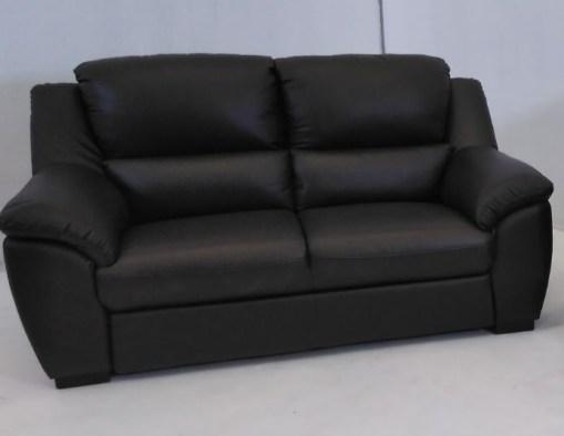 Sofá de 2 plazas. Conjunto de sofás relax de piel natural de color marrón- Leon