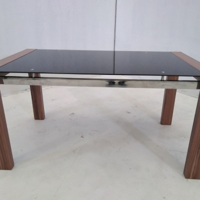 Coffee Table - Metal, Wood and Glass - Tec