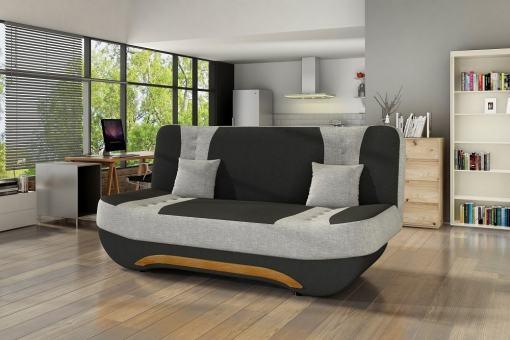 Sofá Cama Plegable Compacto - Olivia. Negro con gris claro - 08