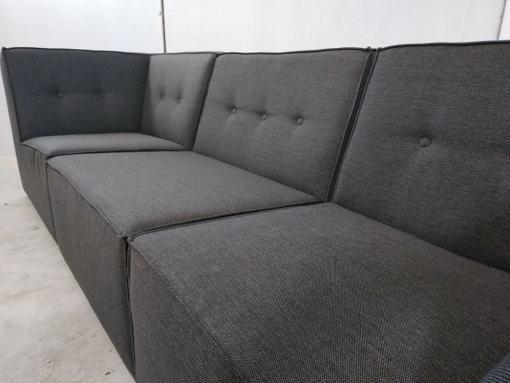 Asientos. Sofá de 3 plazas más puf - Modules