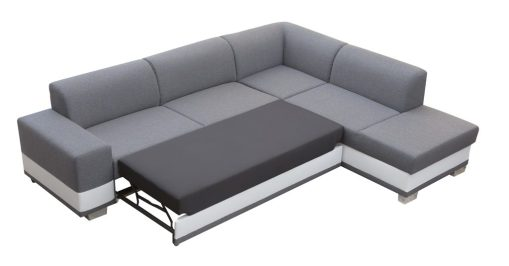 Pull-Out Bed. Modern Corner Sofa Bed with Cushions - Barbados