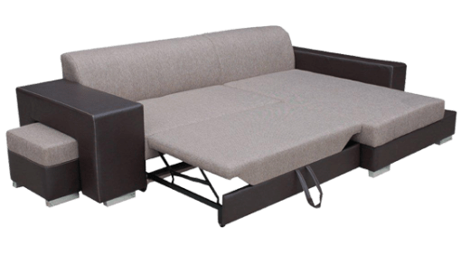 Pull-Out Bed. Chaise Longue Sofa Bed with Pouffe - Santa Monica