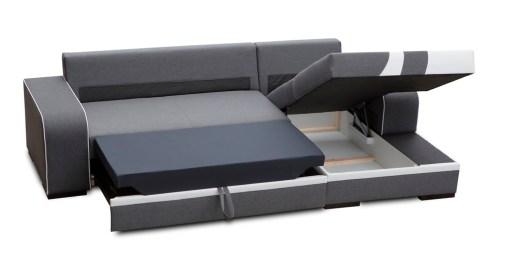 Cama y arcón abierto. Sofá chaise longue cama con arcón - Bay