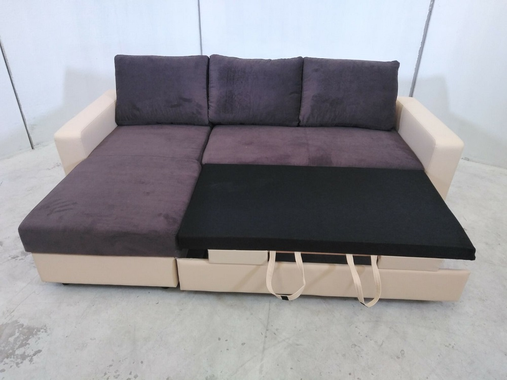 Sofa bed with reversible chaise longue noa don baraton for Catalogos de sofas chaise longue