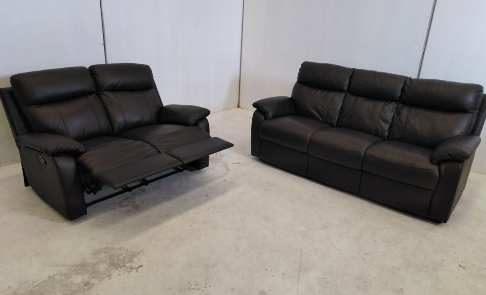 3 2 Real Leather Sofa Set 3 Seater And 2 Seater Recliner Ian