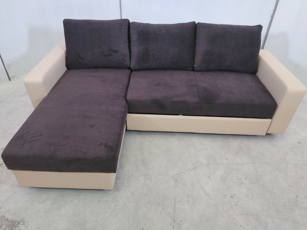 Sofa bed with reversible chaise longue noa don baraton for Chaise longue 2 personnes