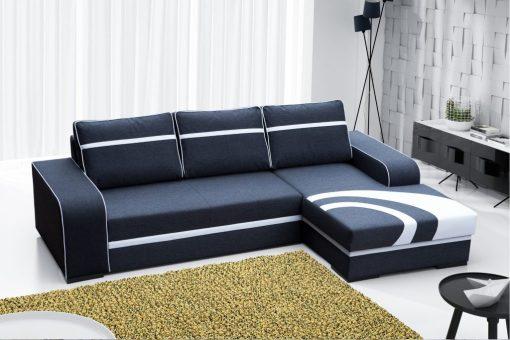 Sofá chaise longue derecha cama con arcón - Bay