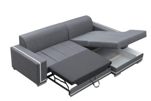 Arcón de sofá cama con chaise longue grande - Caicos