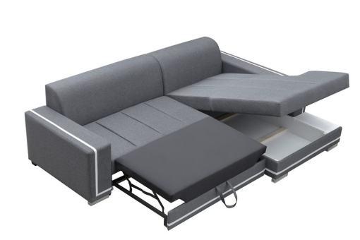 Storage. Sofa Bed with Spacious Chaise Longue - Caicos