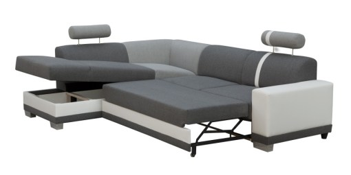 Storage Compartment. Corner Sofa with Pull-out Bed - Fiji