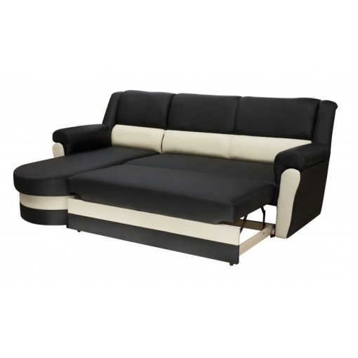Pull-out Bed. Chaise Longue Sofa Bed with High Backrest - Parma