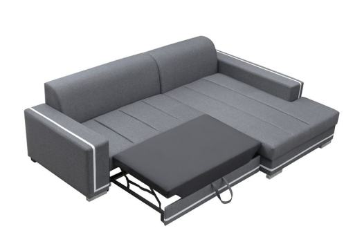 Pull-out Bed. Sofa Bed with Spacious Chaise Longue - Caicos