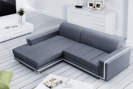 Sofá cama con chaise longue grande. Chaise longue izquierda - Caicos