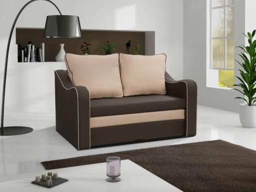Pequeño sofá cama en color marrón - Trieste