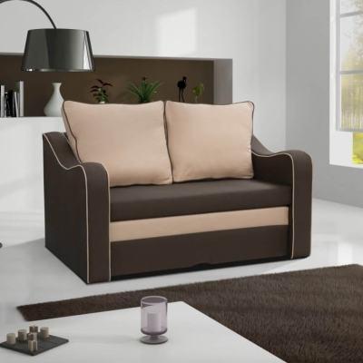 Маленький раскладной диван-кровать - Trieste (коричневая ткань)