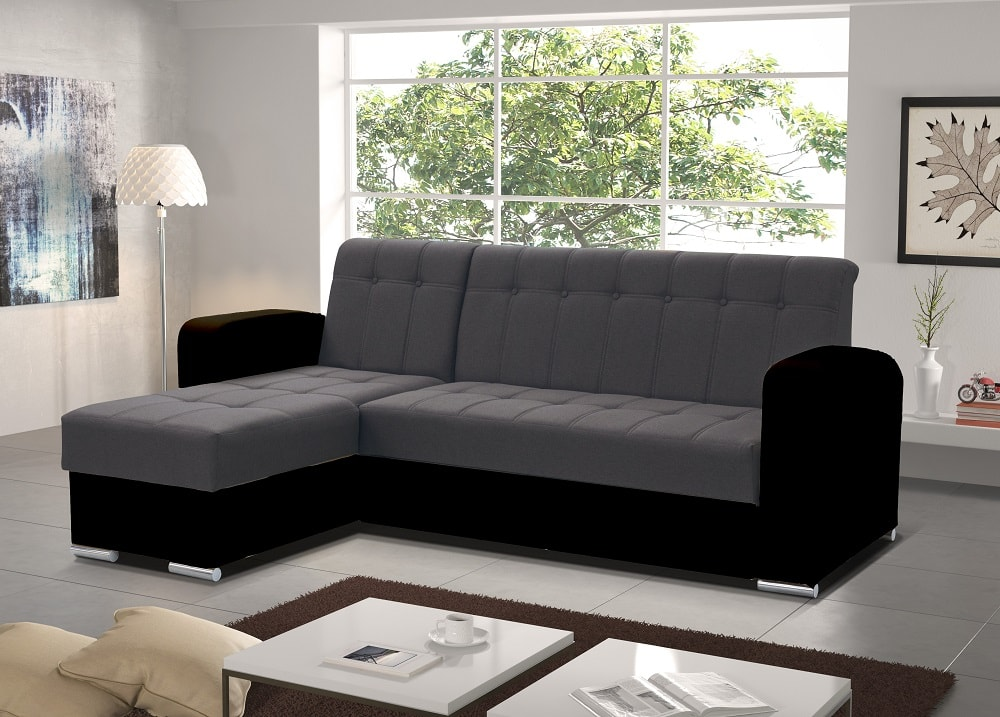 Chaise Longue Sofa with Pull-Out Bed and Storage - Salerno - Don Baraton
