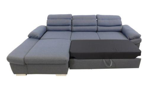 Cama abierta. Sofá chaise longue cama con arcón y reposacabezas reclinables - Capri