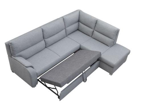 Mecanismo de apertura de la cama. Sofá rinconera con un extremo abierto - Crete