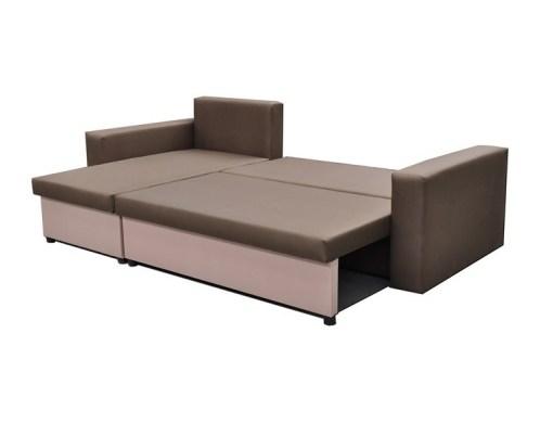 Cama abierta. Sofá chaise longue cama con arcón - Turin