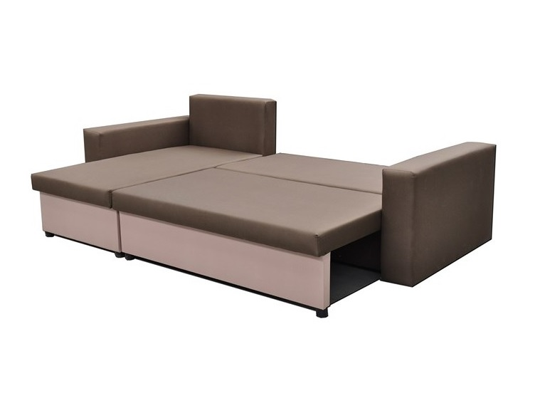 Chaise Longue Sofa Bed with 2 Storage Compartments - Turin