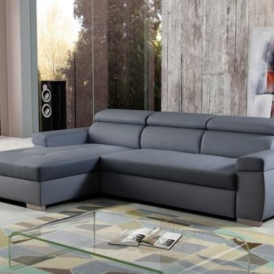 Sofá chaise longue cama con reposacabezas reclinables – Calgary. Chaise longue al lado izquierdo