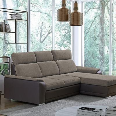 Sofá chaise longue reversible con cama - Vancouver. Chaise longue al lado derecho