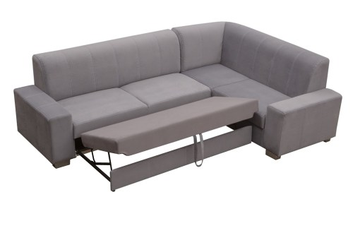 "Pull-out Bed (""Delfin"" Opening). Corner Sofa Bed (4 Seater) with Pouffe - Sardinia"