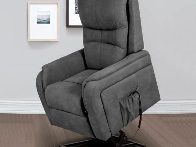 Butaca eléctrica relax reclinable levanta personas. Tela gris - Caudete