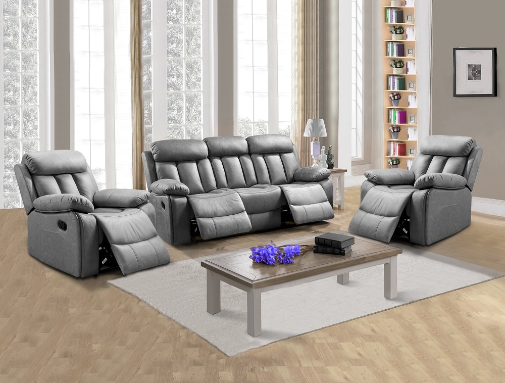 Astonishing Living Room Set 3 1 1 Three Seater Recliner And Two Armchairs Barcelona Don Baraton Gmtry Best Dining Table And Chair Ideas Images Gmtryco