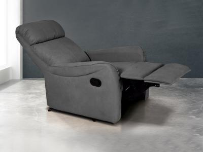 Elevating footrest and reclining backrest. Manual recliner Cieza. Grey colour