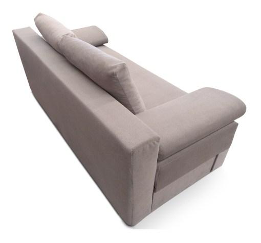 Tapizado detras. Sofá cama con cojines laterales (brazos) - Lorca