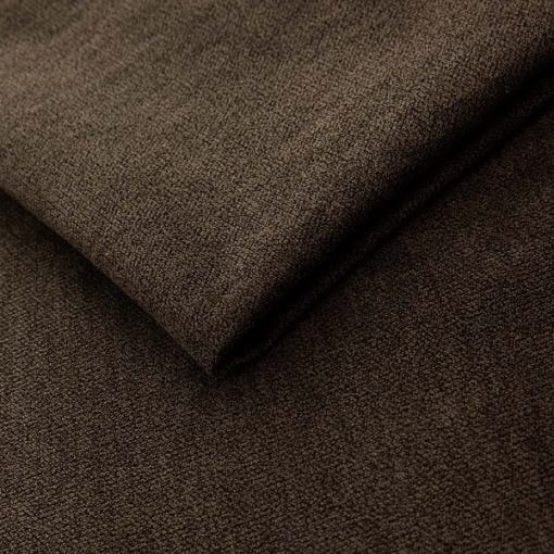 Brown Plush Microfiber Fabric. Scandinavian Design Sofa Halmstad