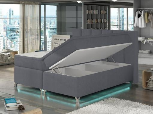Open storage with 3 Sections of the Barbara 160 x 200 cm Bed