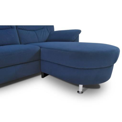 Cheslón y patas del sofá azul - Claudia