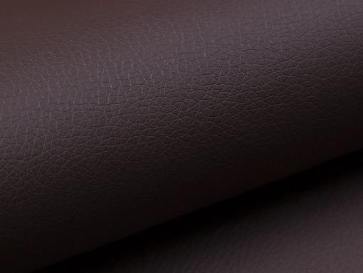 Piel sintética color marrón. Sofá rinconera cama con arcón modelo Fiji