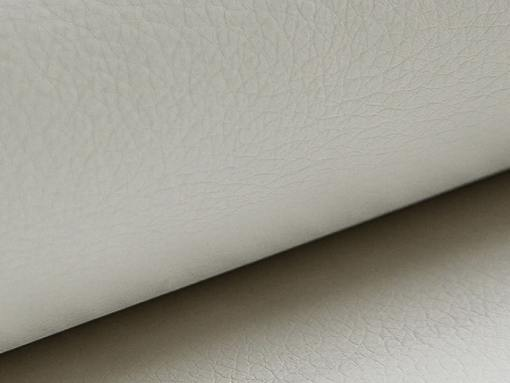 White synthetic leather of the Fiji corner sofa
