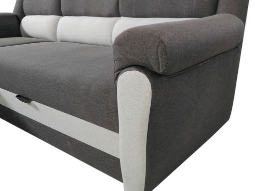 Armrest. Chaise Longue Sofa Bed with High Backrest - Parma