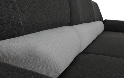 Respaldo alto. Sofá chaise longue cama con arcón - Parma