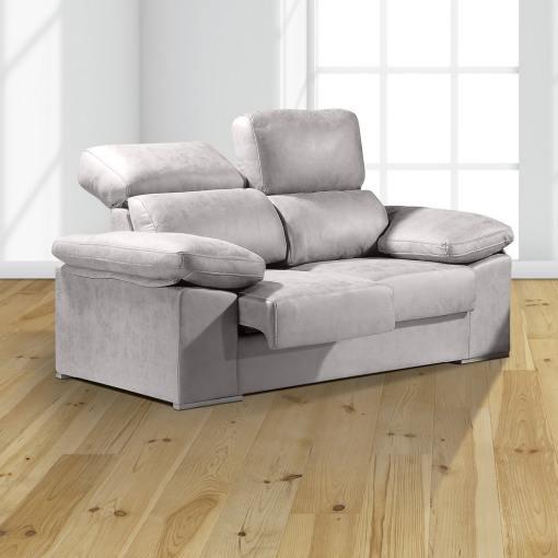 Двухместный диван с выдвигающимися сиденьями и спинками с наклоном — Toledo. Светло-серый цвет (Cemento)