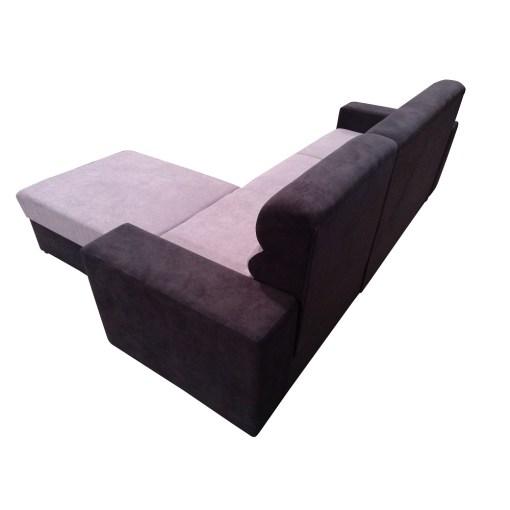 Tapizado detras. Sofá cheslong cama con arcón - Montpellier