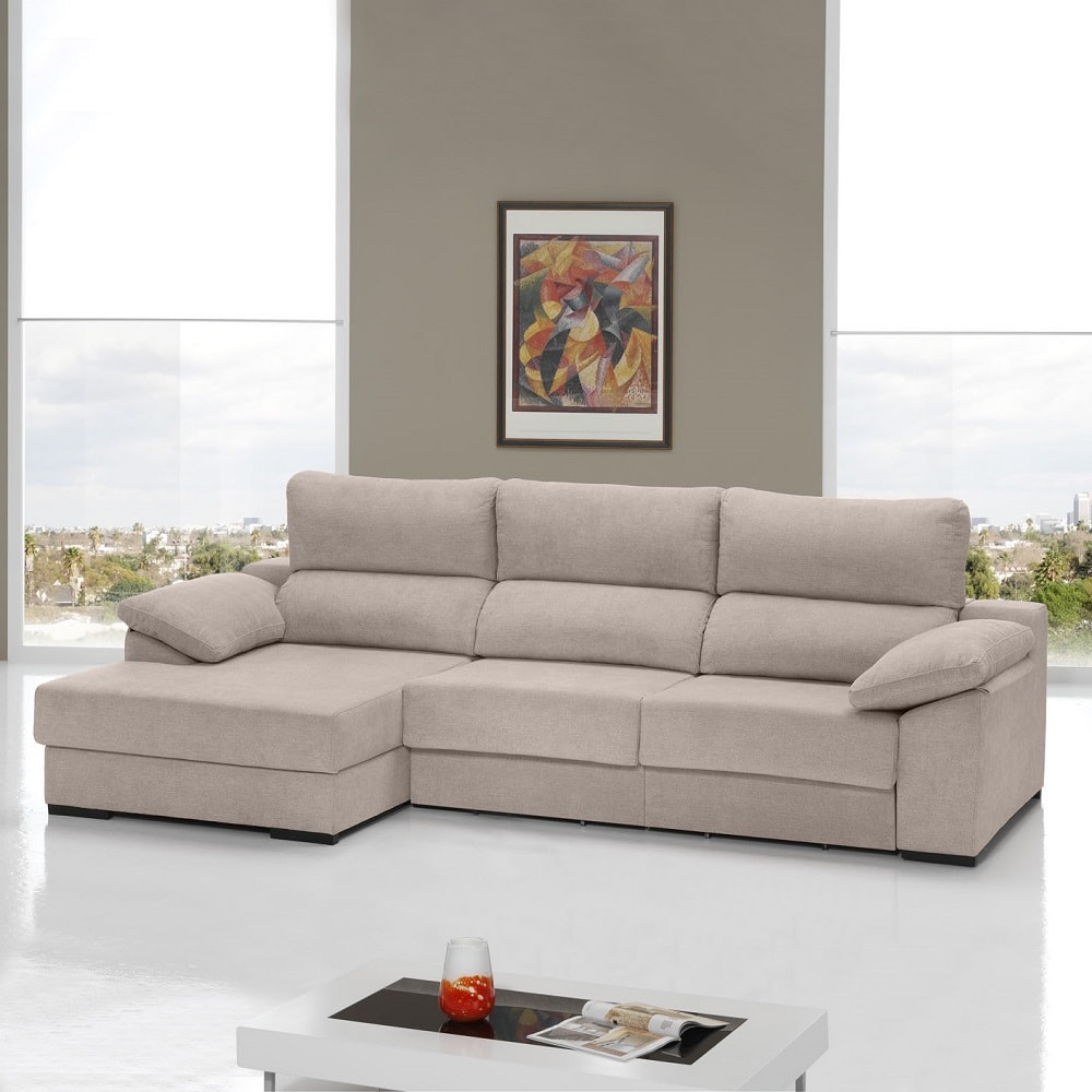 Chaise Longue Sofa Bed With Sliding Seats