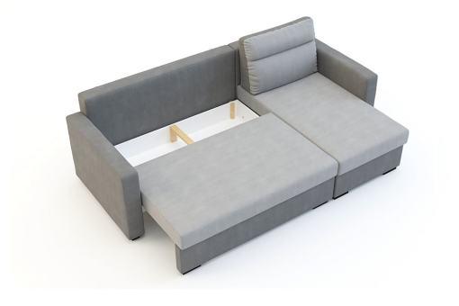 Отделение для хранения белья под сиденьем. Угловой диван-кровать - Edmonton
