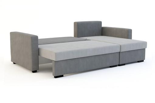 Диван разложен в кровать. Угловой диван-кровать - Edmonton