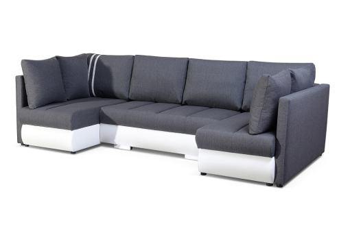 Compact U-shaped Sofa with Bed, 2 Chaise Longues, 3 Storages - Bora