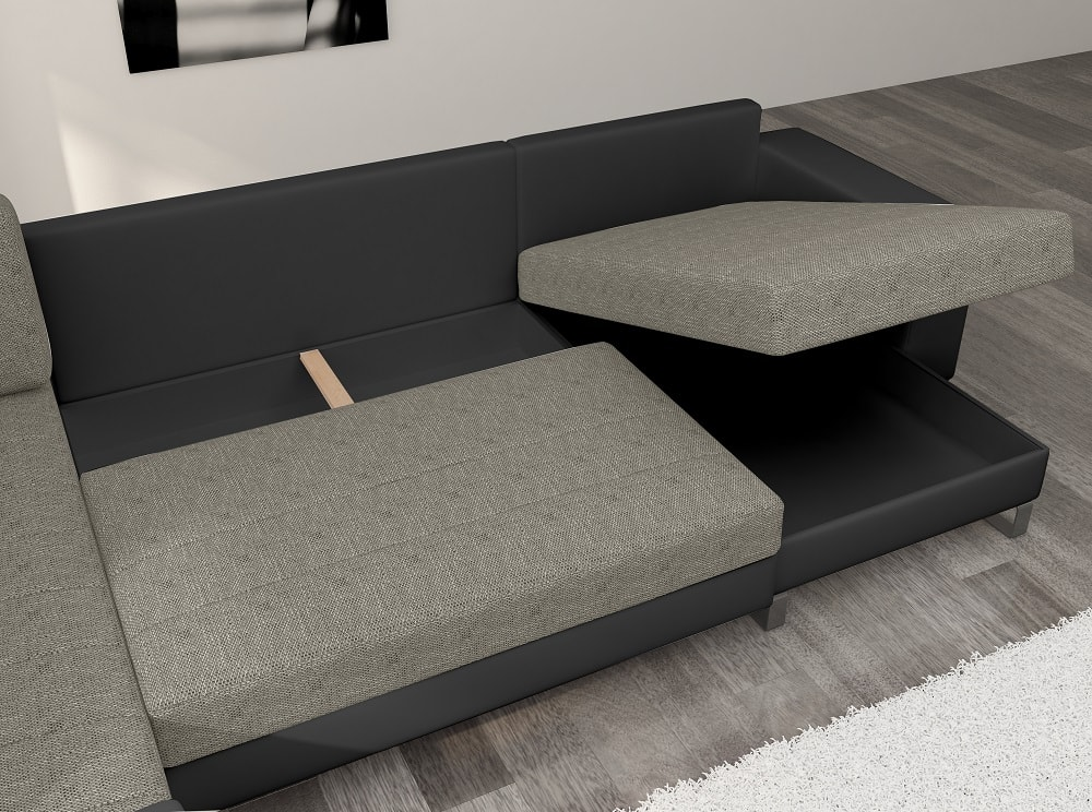 Affordable U Shaped Sofa With Pull Out Bed And Storage Bristol