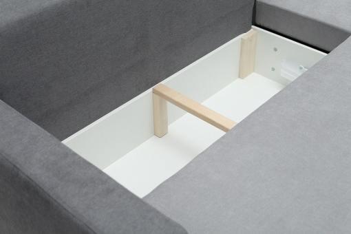 Отделение для хранения белья крупным планом. Угловой диван-кровать - Edmonton